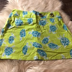 Lilly Pulitzer Green Turtle Skort
